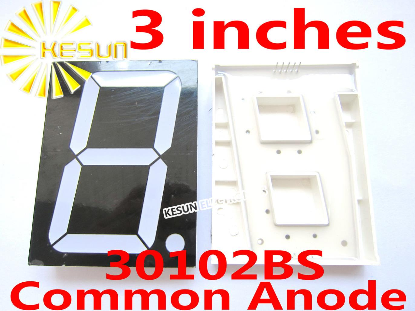 FREE SHIPPING 5PCS X 3 Inches Red 30101BS 30101AS Common Anode/Cathode Single Digital Tube LED Display Module