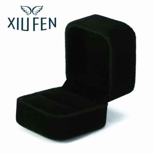 Sangdo Large Velvet Ring Display Box Case Tray Jewelry Gift Box -- Black