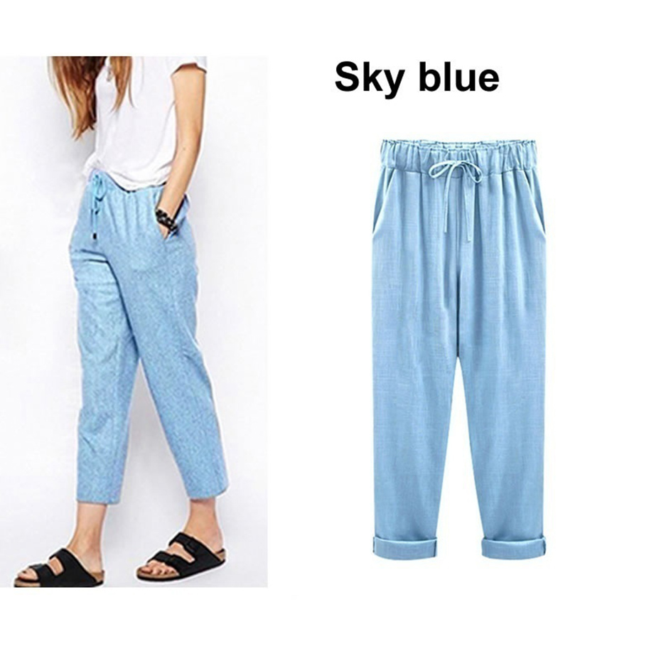 ZOGAA 2019 hot sale women pants PLus Size 6XL Full Length Sweatpants Velvet Bottoms Joggers High Waist Casual Loose Trousers