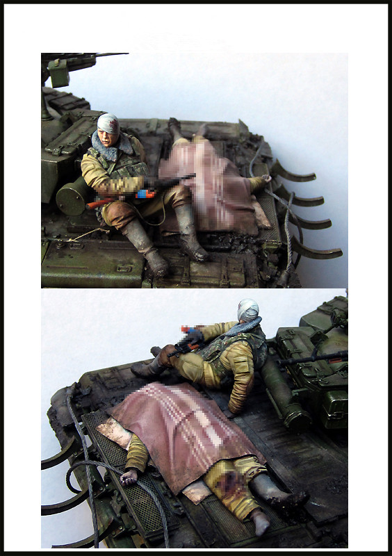 pre order-Resin toys Russian soldiers.Fallen and wounded.(Chechnya) Free shipping pre order resin toys lf0118 kangaroo free shipping
