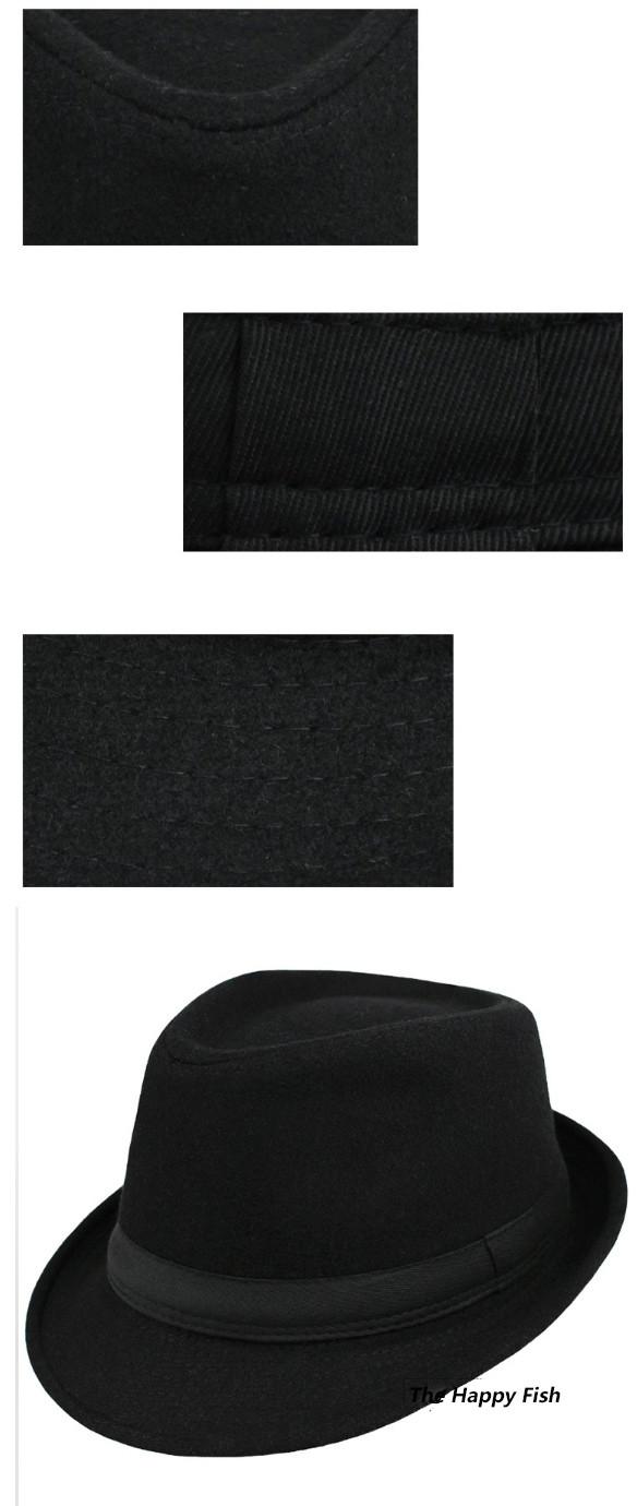 Original Unisex Structured Wool Fedora Hat Fedora hats for men fedora felt hat (3)