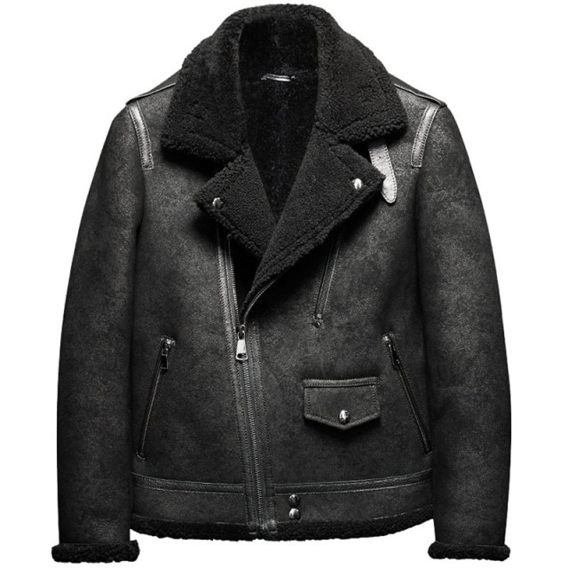 e280767d78c Denny Dora B3 Men s Shearling Leather Jacket Original Flying Jacket Men s  Fur Coat Pilots Coat