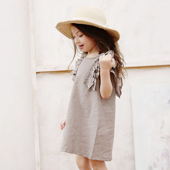 Baby Kids Summer Polka Dot Kids Party Prom Dress Princess Lady Girls Dresses New Child Sweet Casual Cotton Sleeveless Clothes 2016 new polka dot girls summer dress childrens clothes party dresses bowknot sleeveless princess kids baby clothing
