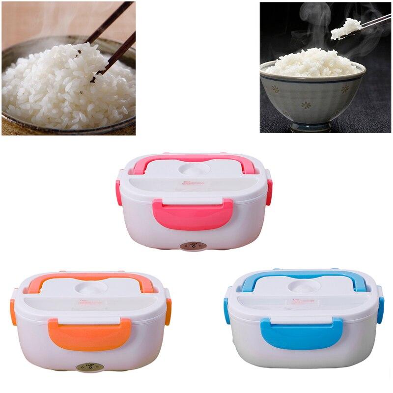 3 farbe Elektrische 220 V Tragbare Beheizten Mittagessen lebensmittelqualität Lebensmittelbehälter Set Kostwärmer Bento Mit Für kinder schule Box