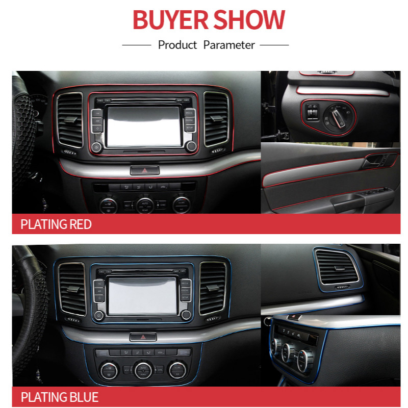 Image 4 - Car Styling Interior Accessories Strip Sticker For Nissan Qashqai j11 Juke X trail Tiida Note Almera Primera Pathfinder Teana-in Car Stickers from Automobiles & Motorcycles
