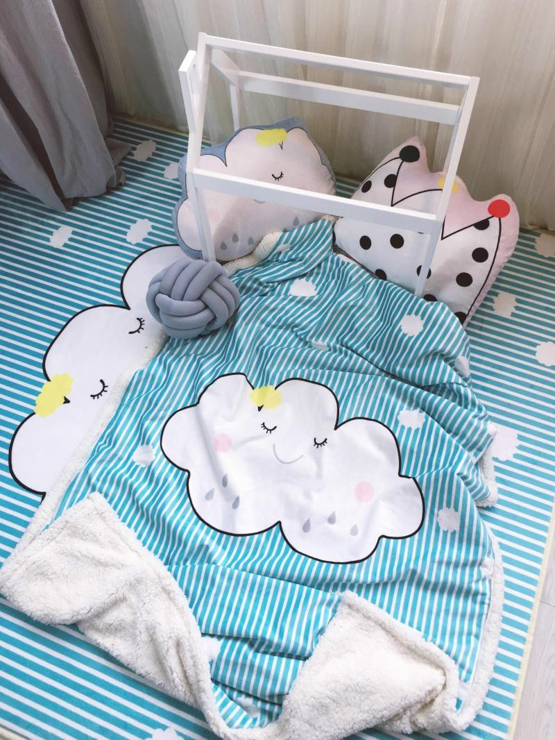 150*100CM Winter Blanket Newborn Swaddle Fox Cloud Blankets Cama Bedding Covers soft newborn swaddle bebe Couverture inbakeren
