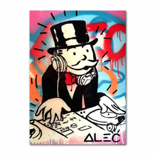 7-Space Modern Posters And Prints Uncle Sam Street Graffiti Wall Art Canvas Painting Decor Picture Living Room No Frame