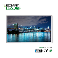 Image Infrared Heating Panel with Plug 600W Energy Efficient Infrared Panel Heater Wall Mounted Electric Heater