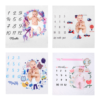 18 Styles Newborn Baby Cute Photograph Blanket Baby Printed Soft Swaddle Wrap Bathing Towels  Infant Bedding Photography Props