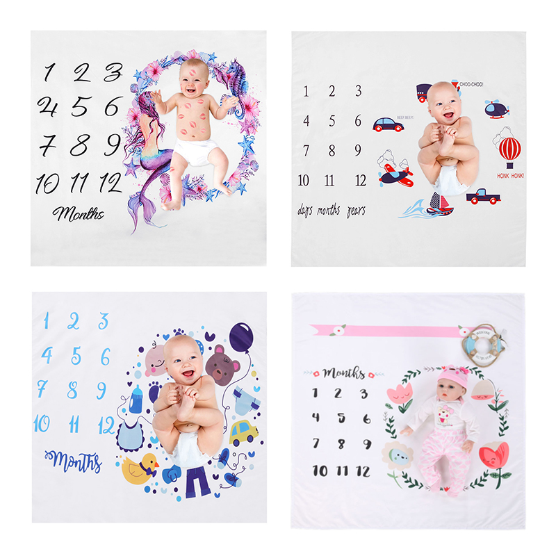 26 Styles Newborn Baby Cute Photograph Blanket Baby Printed Soft Swaddle Wrap Bathing Towels  Infant Bedding Photography Props