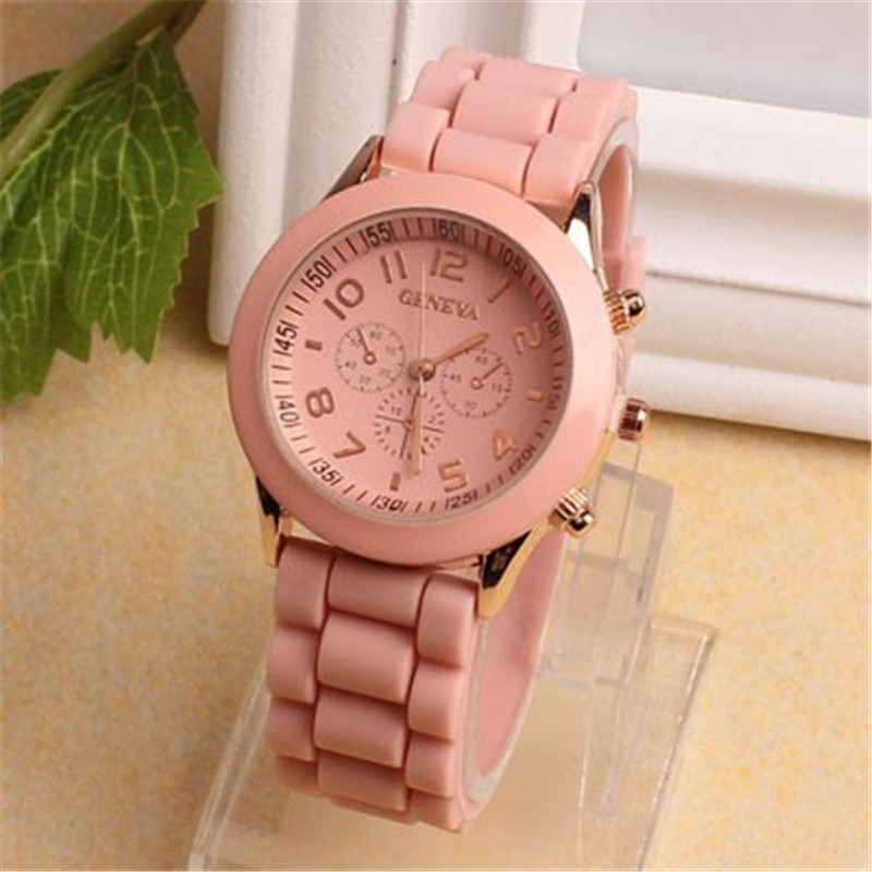 MEIBO Geneva Casual Watch Women Dress 15 Colors Silicone Unisex Quartz Wristwatch Fashion Sports Watches Saat Relojes Mujer 2017 new fashion unisex women wristwatch quartz watch sports casual silicone reloj gifts relogio feminino clock digital watch orange