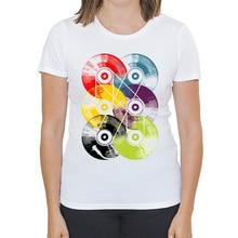 Multiple reel-to-reel vinyl records women's shirt / girlie