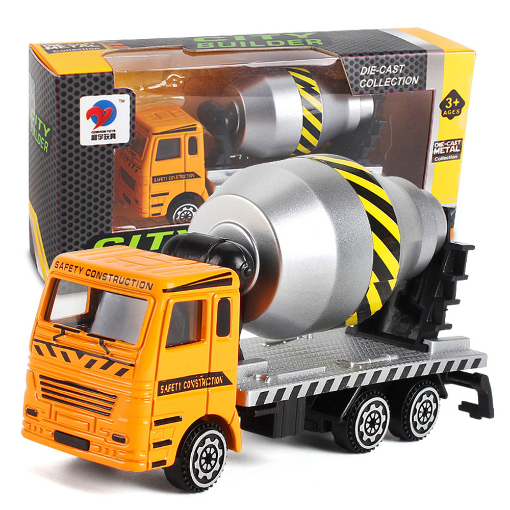 Kids Fun Toy New Years Gift Alloy Engineering Toy Mining Car Truck Childrens Birthday Gift Excavation Works Model Toy For Boy