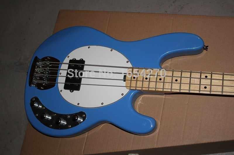 Бесплатная доставка Стандартный Музыка 4 струны бас Музыка StingRay человека электрическая бас-гитара с 9 В Батарея активный звукосниматель 151112