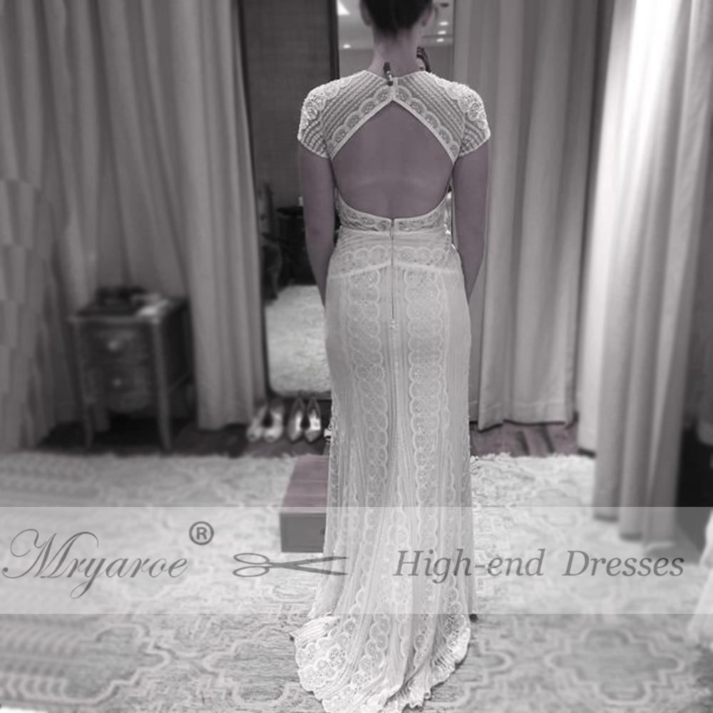 Mryarce Classic Lace Elegant Bohemian Wedding Dress Modest Short ...