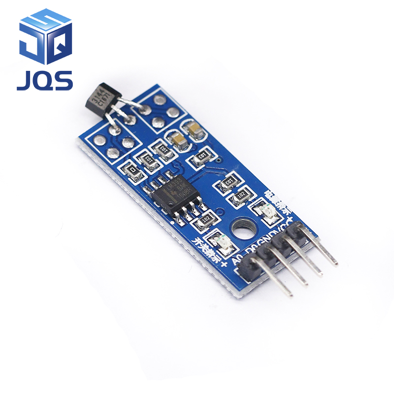 Hall Sensors Module 3144E 4pin Hall Switch Speed Magnetic Swiches Speed Counting Sensor Module For Arduino Smart Car