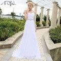 ADLN 2017 In Stock Sexy Chiffon Beach Wedding Dresses Sweetheart Neck A-line Floor-length Bridal Dress Vestidos De Novia