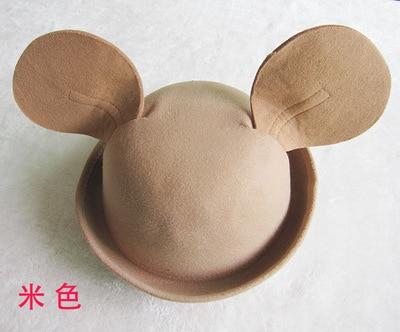 Travel baby basin hat Wool big ears horseman girl baby girls hat ...