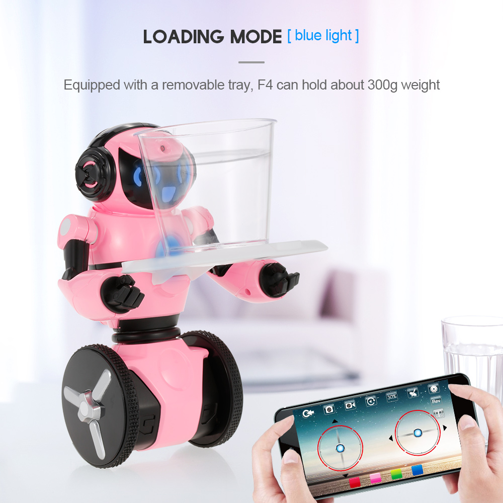 Wltoys RC Robot F4 0.3MP Camera Wifi FPV APP Control Intelligent G-sensor Smart Robot Super Carrier RC Toy Gift for Children (7)