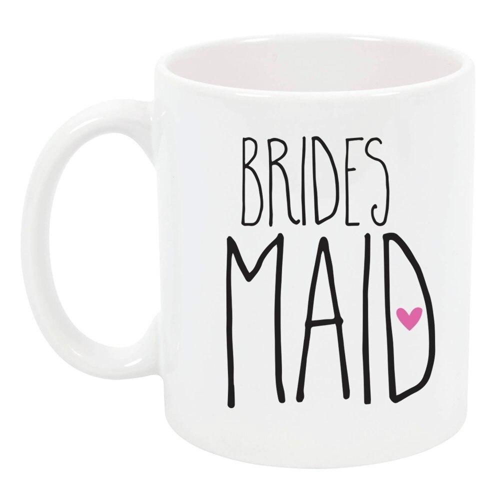 Wedding Gift Mugs: 11 Oz High Tide Mugs Bridesmaid Wedding/Bridal Party Gift