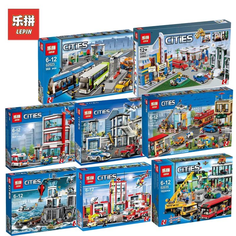 Lepin City Set Hospital Police Prison Island 02020 02035 Fire Station 02113 02114 Model Blocks Bricks Toys Compatible LegoINGlys fire granny 2018 11 20t20 00