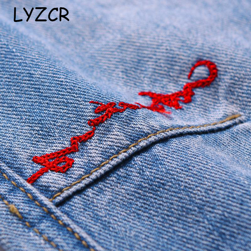 Embroidered Denim Pants Women's Boyfriends Harem Jeans For Women Loose High Waist Jeans With Embroidery Ladies Jeans Trousers