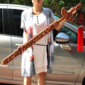 Wood carving Wooden sword gift home decoration desktop ornaments(A815)(China)