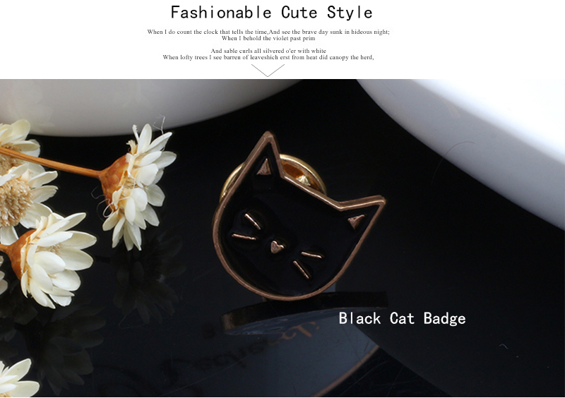 Cat Enamel Brooch Pin Badge