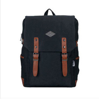 Candy Color Canvas Double Buckle Backpack Women Bag Large Capacity Men Backpacks Laptop School Travel Rucsack