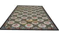 Handmade Carpet Vintage Carpets For Living Room Square Rug Aubusson Carpet Natural Sheep Wool french aubusson rug aubusson rug wool carpet -