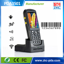 Touch screen android 1D barcode scanner ,PDA wireless barcode scanner with display for logistic management
