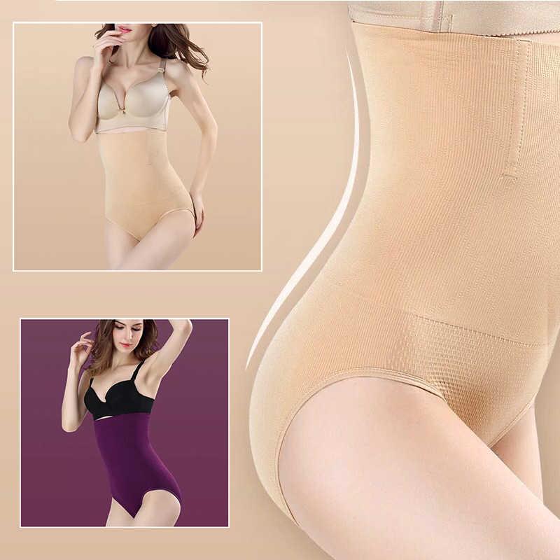 섹시한 원활한 여성 높은 허리 슬리밍 배꼽 컨트롤 knickers 바지 팬티 shapewear 란제리 바디 셰이퍼 레이디 코르셋 100 kg xxxl