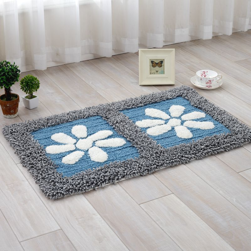 Cool Kitchen Rugs: High Quality Cotton Chenille Absorption Floor Mats Area Rug Unique Quilting Carpet For Kitchen