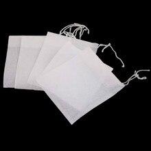 Hot Sale 50/100Pcs 6 x 7cm Non-woven Fabrics Disposable Tea