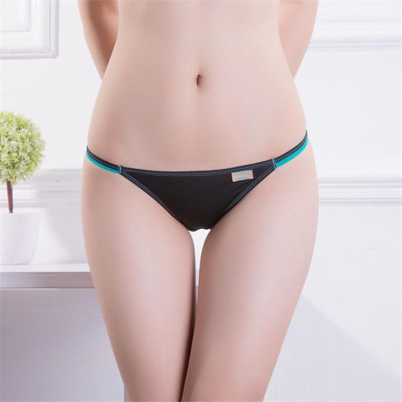 4 Pcs/set Women's Sexy Underwear String Panties Low Waist Seamless Briefs Ladies Bikini Soft Cotton Lingerie 12 Colors FUNCILAC