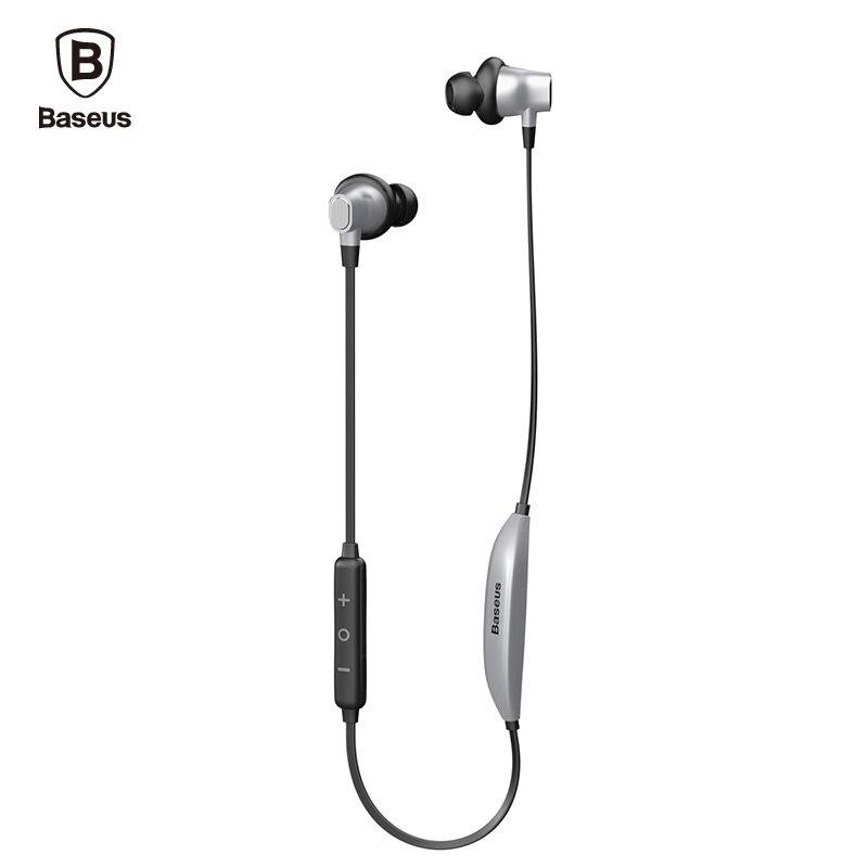 Baseus Professionale Neckband Auricolare Metallo Basso Pesante Musica di Qualità del Suono Auricolare Magnet Bluetooth cuffia fone de ouvido
