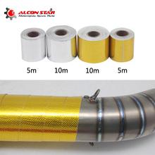 Alconstar-5 10M włókno szklane termiczne taśmy wydechowej lub wydech używany do Honda CB650F CB1000R CBR1000RR spalin motocykl tanie tanio do 0 05 kg Uniwersalny ISO9001 Aluminium z włókna szklanego 0 cali w Taśma maskująca W Alconstar 50mm * 5m 1 97 in * 196 85 in