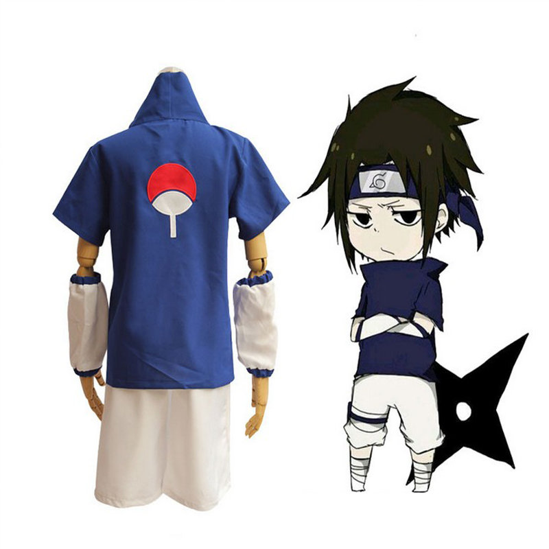 Japanese Anime Naruto Uchiha Sasuke Cosplay Uniform Suit Men's Halloween Costumes Free Shipping
