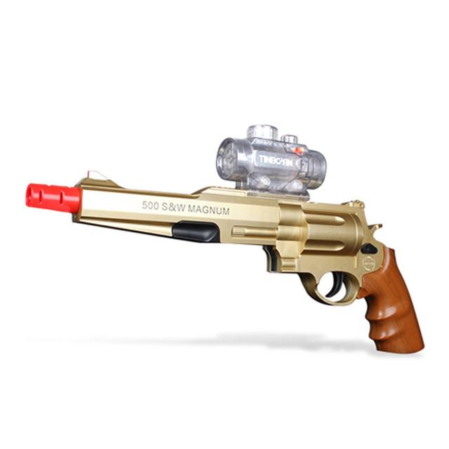 Soft play/multifunción niños de juguete pistola de juguete pistola de agua luz de tira telescopio regalos para los niños