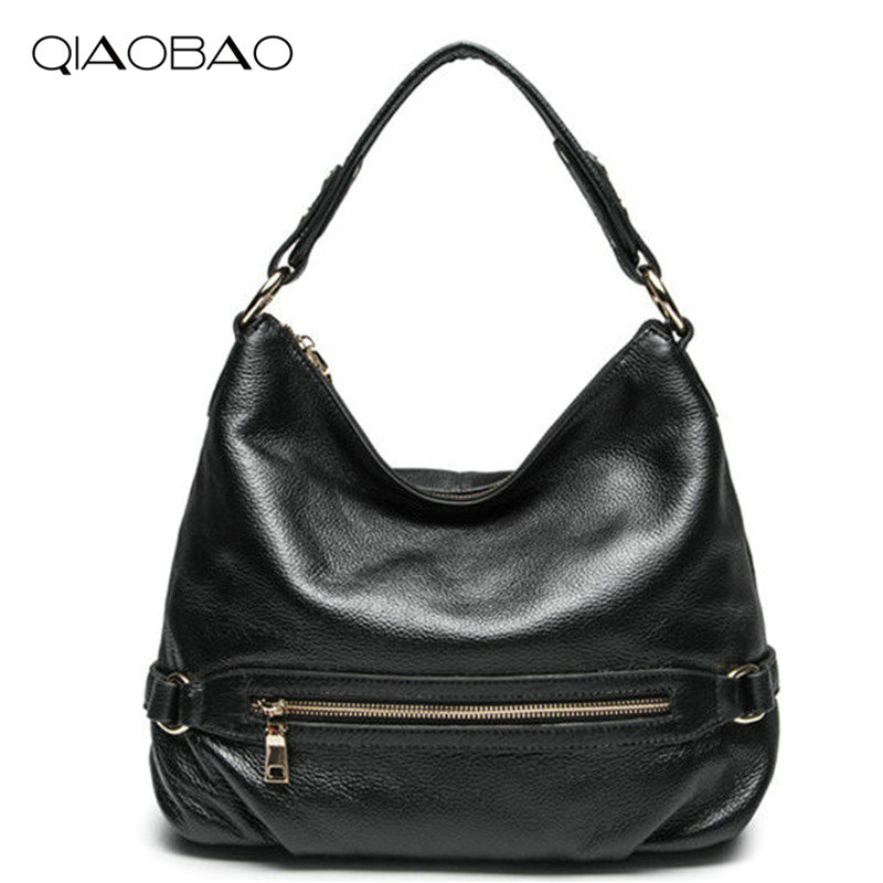 QIAOBAO Brand Women Shoulder bags New Design Leather Handbag Lady Fashion and Leisure Female Shoulder bag all-match Women's Bag 2017 fashion all match retro split leather women bag top grade small shoulder bags multilayer mini chain women messenger bags