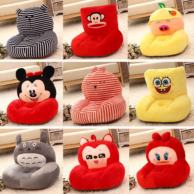Kawaii Cartoon Animals Children Beanbag Plush Animal Sofa