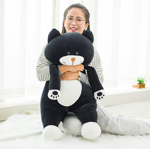 75 cm grande taille chat poupées apaiser dormir oreiller en peluche jouets de haute qualité super doux remplissage jouets - 4