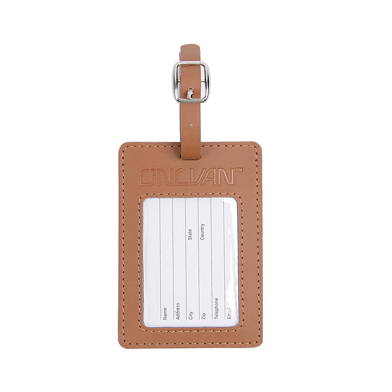 ONLVAN Suitcase Pu Leather Luggage Tags Men Women with Business Card ...