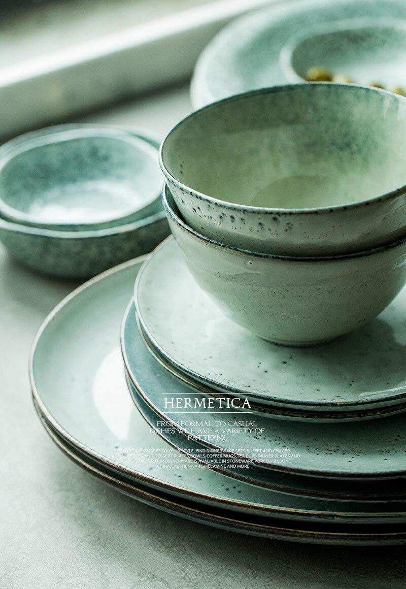 ... 7-Inch-Ceramic-Dishes-Plates-Retro-Pigmented-Round- ... & 7 Inch Ceramic Dishes \u0026 Plates Retro Pigmented Round Creative Rice ...