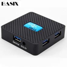 BASIX USB Hub 3.0 5 Ports High Speed USB 3.0 HUB Portable OTG Hub USB Splitter power port for Apple Macbook pro Laptop PC Tablet