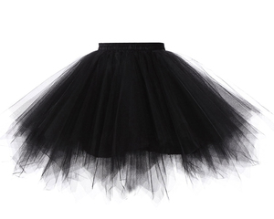 Image 2 - Women Skirts Tutu Princess Fashion Ballet Black Tutu Fluffy Skirt for Women Tulle Petticoat Skirts Elastic Adult Pink Tutu Skirt