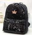 Hot-selling New 2017 fashion women backpack 4 colors big crown embroidered sequins schoolbag wholesale shoulder bag