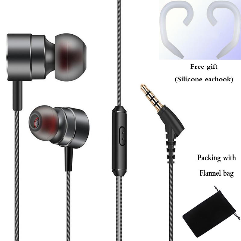 FGJ02 Metal bass music Earphone magnetic Headset with mic for iPhone xiaomi redmi 5 pro mi 6 huawei samsung xiomi sony phone mp3 langsdom a10 super bass in ear earphone hifi music earplugs metal headset with mic general for phone iphone xiaomi sony pc mp3
