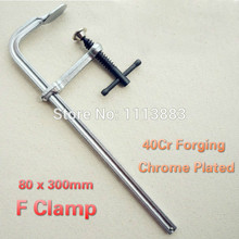 High Quality 80 x 300mm Clamps For Woodworking 40Cr Forging Chrome Plated F G Carpenter Tools