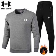 Under Armour hombres invierno deportes traje gimnasio ropa hombres 2  unidades terciopelo sudadera + Pantalones ropa de entrenami. 07de7ee3d16